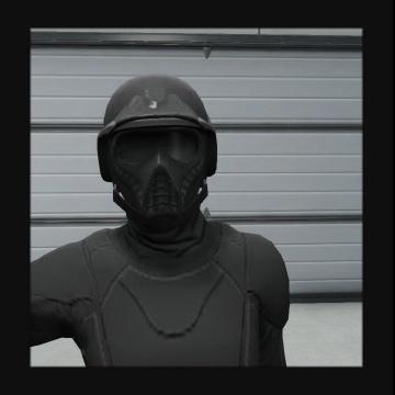 戦闘マスク+防弾ヘルメット